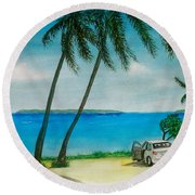 Antigua Round Beach Towel by Frank Hunter