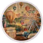Antique Ferris Wheel Walt Disney World Round Beach Towel