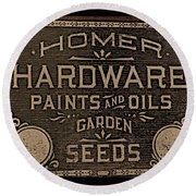 Antique Homer Hardware Round Beach Towel