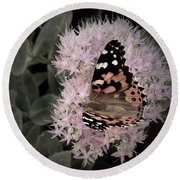 Antique Monarch Round Beach Towel by Photographic Arts And Design Studio