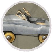Antique Pedal Car Ll Round Beach Towel