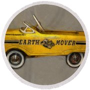 Antique Pedal Car Vl Round Beach Towel