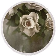 Antique Roses Round Beach Towel