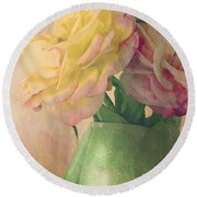 Antique Roses Round Beach Towel