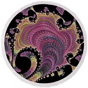 Antique Tapestry Round Beach Towel by Susan Maxwell Schmidt