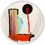 Ao - Gyo Round Beach Towel by Roberto Prusso