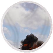 Round Beach Towel featuring the photograph Apache Fire Power by Maj Seda