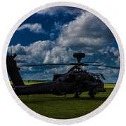 Apache Gun Ship Round Beach Towel by Martin Newman