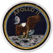 Apollo 11 Round Beach Towel