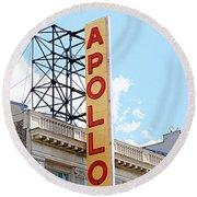 Apollo Theater Sign Round Beach Towel