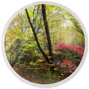 Appalachian Mountain Trail Round Beach Towel