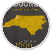 Appalachian State University Mountaineers Boone Nc College Town State Map Poster Series No 010 Round Beach Towel