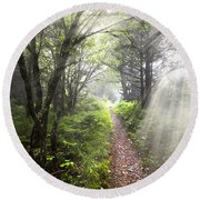Appalachian Trail Round Beach Towel by Debra and Dave Vanderlaan