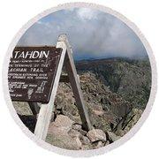 Appalachian Trail Mount Katahdin Round Beach Towel