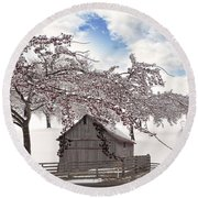 Round Beach Towel featuring the digital art Apparition by Liane Wright