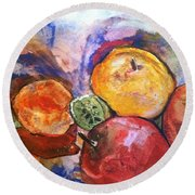 Appetite For Color Round Beach Towel