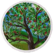 Apple Acres Round Beach Towel