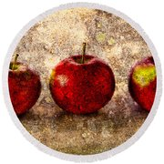 Apple Round Beach Towel by Bob Orsillo