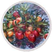 Apple Harvest At Violas Garden Round Beach Towel