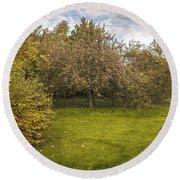Apple Orchard Round Beach Towel