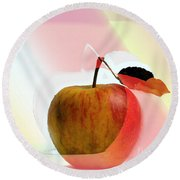 Apple Peel Round Beach Towel