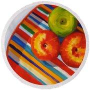 Apple Stripe Round Beach Towel