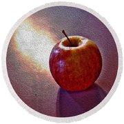 Apples Away Round Beach Towel