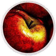 Apples  Round Beach Towel by Bob Orsillo