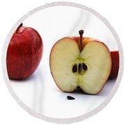 Apples Still Life Round Beach Towel