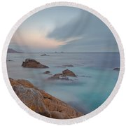 Round Beach Towel featuring the photograph Approaching Storm by Jonathan Nguyen