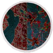April Showers/ May Flowers Round Beach Towel