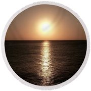 April Sunset Round Beach Towel by Amar Sheow