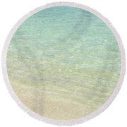 Aqua Blue Waters Round Beach Towel