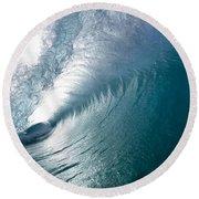 Aqua Curl Round Beach Towel
