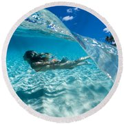 Aqua Dive Round Beach Towel