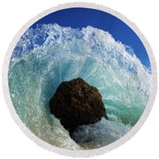 Aqua Dome Round Beach Towel