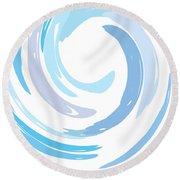 Aqua Swirl Round Beach Towel