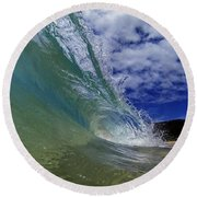 Aqua Wash Round Beach Towel by Brad Scott