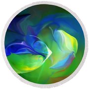 Round Beach Towel featuring the digital art Aquatic Illusions by David Lane