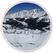 Arapahoe Basin June 2  Round Beach Towel