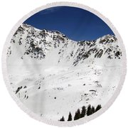 Arapahoe Basin Ski Resort - Colorado          Round Beach Towel