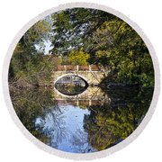 Arboretum Drive Bridge - Madison - Wisconsin Round Beach Towel