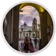 Arc Of The Rose Cadiz Spain Round Beach Towel