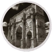Arch Of Constantine Round Beach Towel