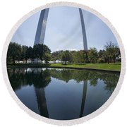 Arch Reflection Round Beach Towel