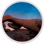 Arch Rock Evening Round Beach Towel