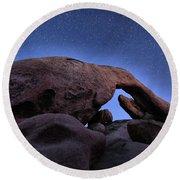 Arch Rock Under The Stars Round Beach Towel