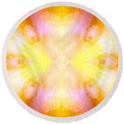 Archangel Jophiel Round Beach Towel
