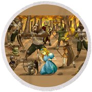 Archery In Oxboar Round Beach Towel by Reynold Jay