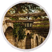 Arches At The Alamo Round Beach Towel by Melinda Ledsome